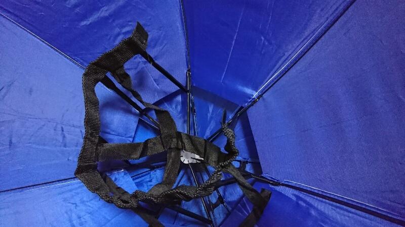 かぶる傘のバンドを切ってみた