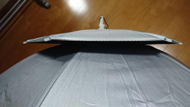 かぶる傘-通気部分