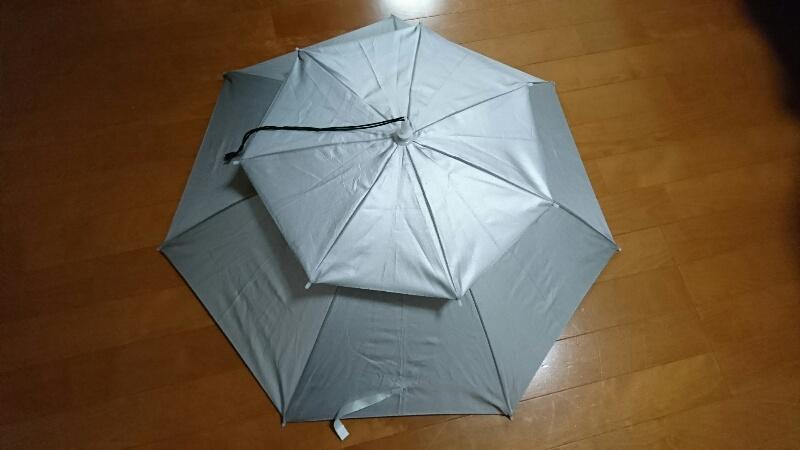 かぶる傘-上から見た状態(全体)