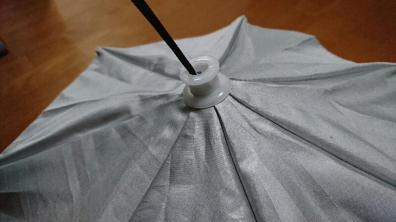 かぶる傘-開いてみた状態(上から)