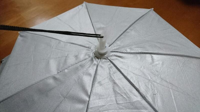 かぶる傘-上から見た状態(上から2)