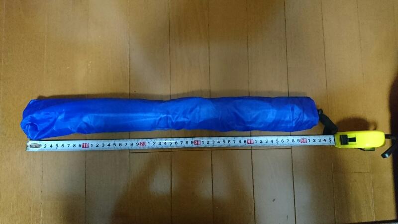 かぶる傘-収納時の長さ