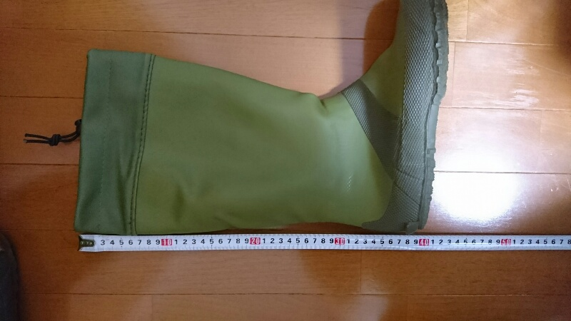 Fieldoorのレインブーツ:長さ測定