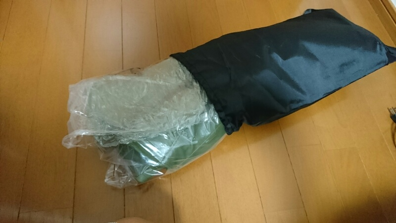 Fieldoorのレインブーツ:ビニール袋ごと収納袋に