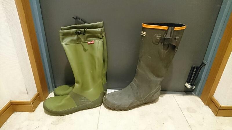 Fieldoorのレインブーツ:Columbiaの長靴との比較