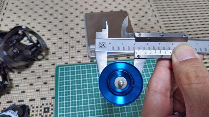 20SLX DC 70XG のスプール径測定(糸巻部)