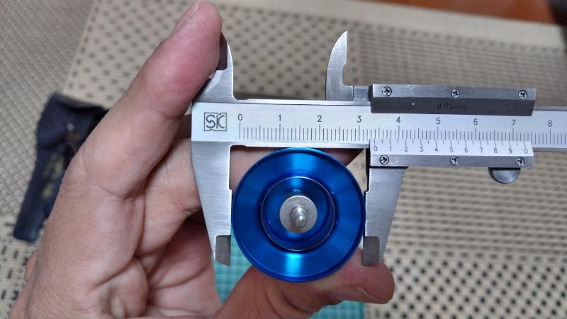 20SLX DC 70XG のスプール径測定