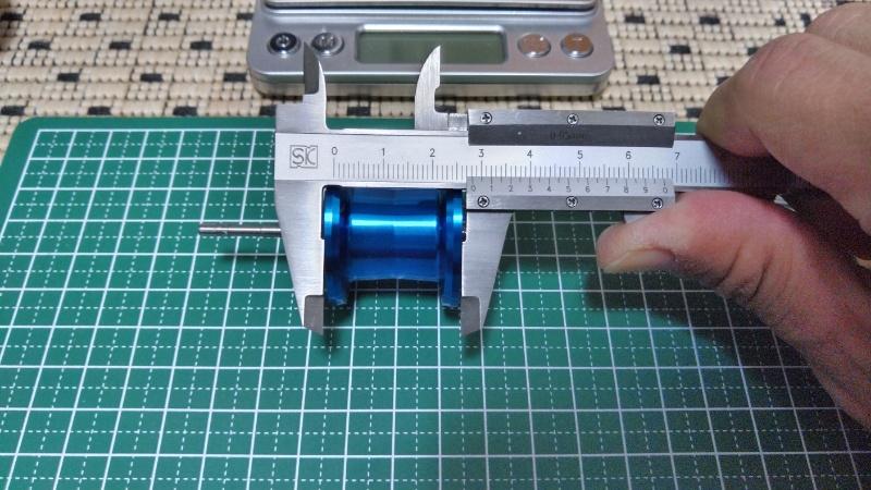 20SLX DC 70XG のスプール幅測定
