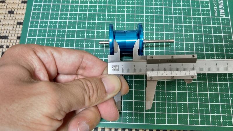 20SLX DC 70XG のスプール幅測定(内幅)