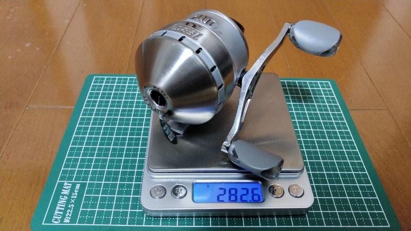 ゼブコ33プラチナ_重量測定