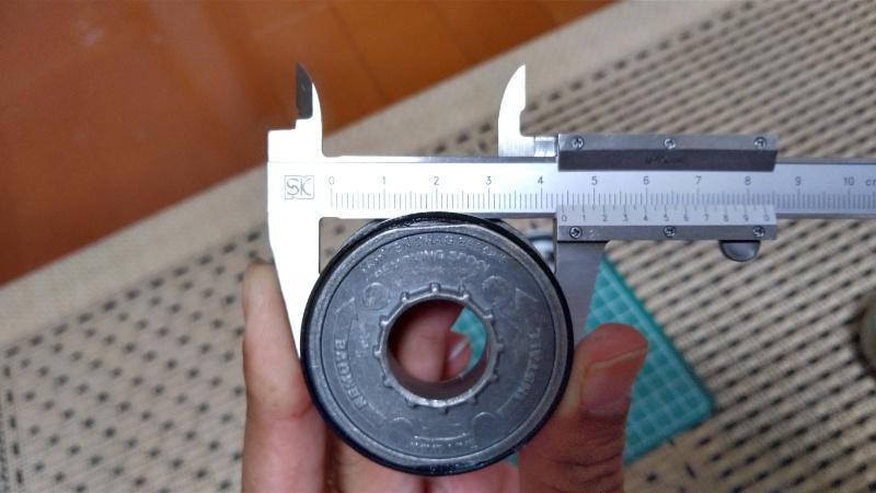 ゼブコ33プラチナのライン部の径