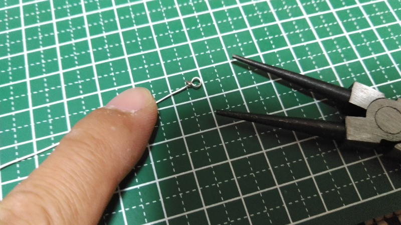 インラインスピナー自作手順:リア側アイを成型する