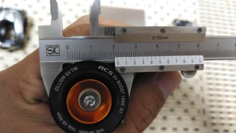 21ジリオンSV TWのスプールの細い部分の直径
