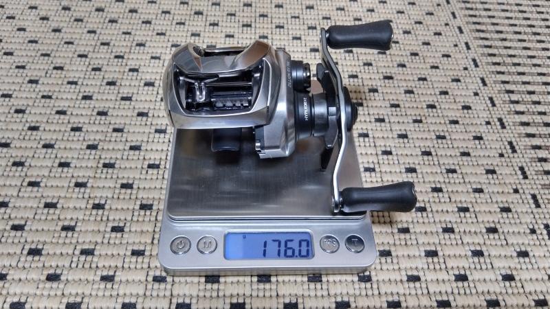21ジリオンSV TWの本体重量測定
